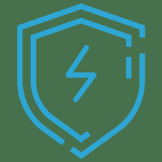 ícone escudo azul png, segurança, energia